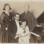 Beate 5 and half years old with Kosaku Yamada in 1929