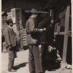 Beate at city mayors bote in Fukaya city on April 25 1947
