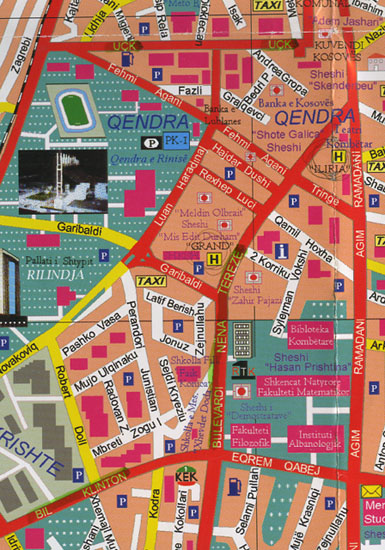 The Influence Of The NationState On Art The Case Of The Former - pristina map